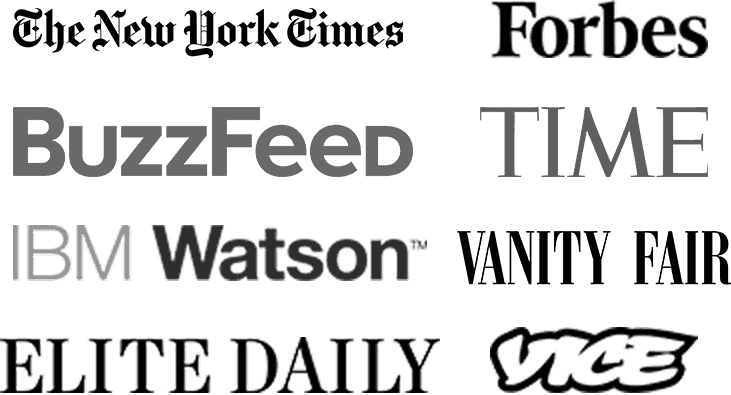 Pingrowth Pinterest Growth Service - banner image with brands: Forbes, Wired, TC, The New York Times, IBM, Time, BuzzFeed, Mashable, Elite Daily